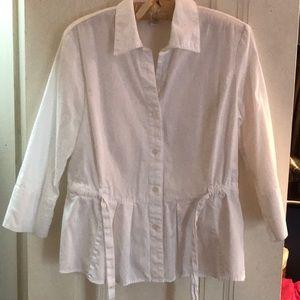 EUC white button down shirt